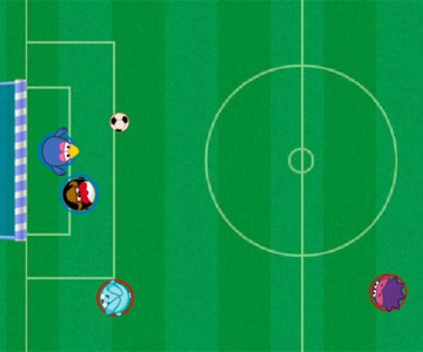 онлайн игра смешарики Ленивый футбол
