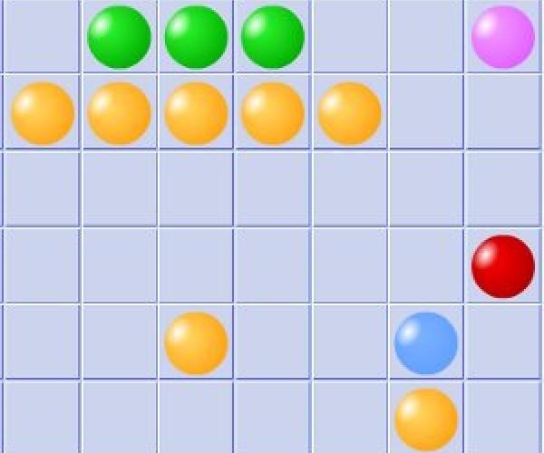 онлайн игра смешарики Пять в линию