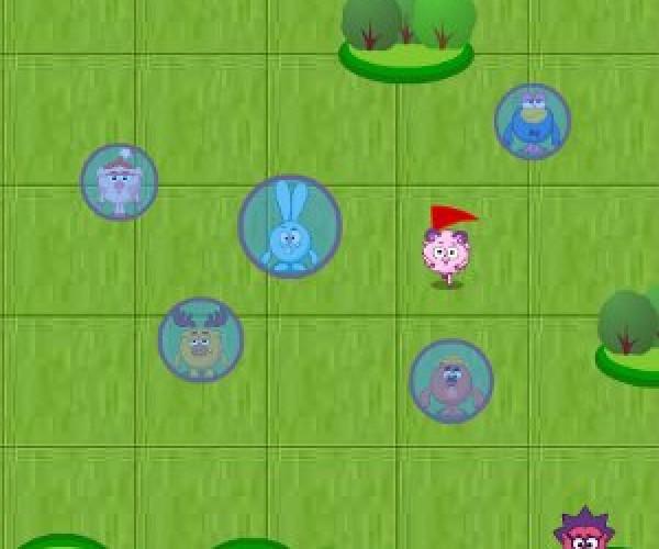 онлайн игра смешарики Пятнашки